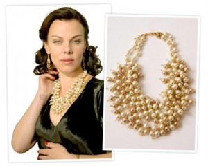 Learn how to choose and buy jewelry, like this statement necklace from Stella & Dot, worn by Debi Mazar