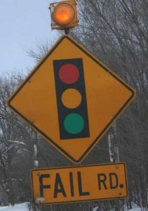 Street sign for Fail Road: Does your blog make these 5 mistakes?