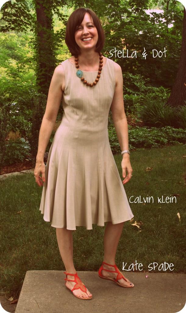 Calvin Klein dress, kate spade shoes