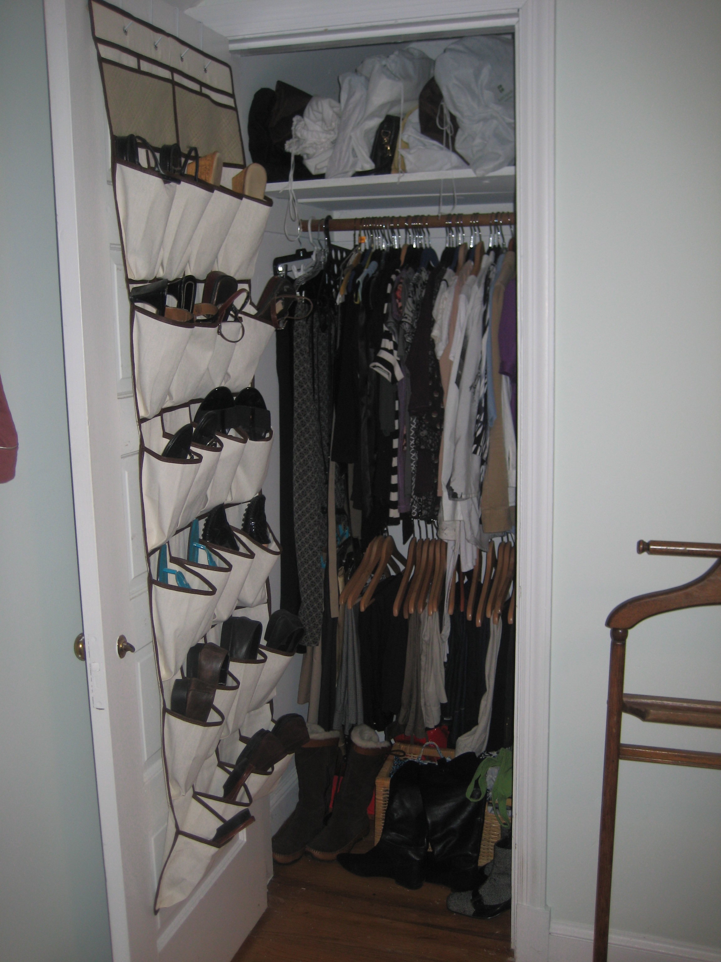 office in a wardrobe. Fitting A 21st Century Sized Big Wardrobe Into Small 1948 Closet, Like This One Office In