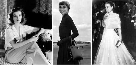Katharine Hepburn, Audrey Hepburn and Grace Kelly: 3 women, 3 ideal shapes, all different