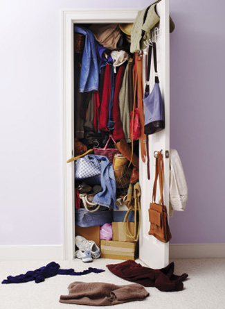 This messy closet clearly needs a wardrobe edit; here are 5 ways to edit your wardrobe now