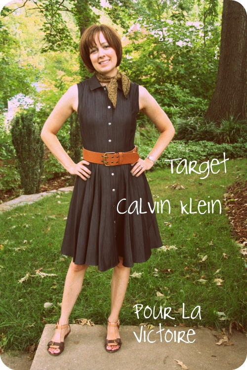Outfit photo: Calvin Klein denim shirtdress