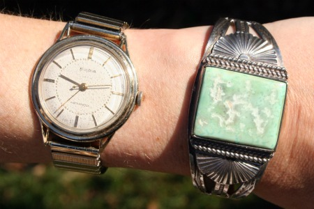 Wearable memories: Watch of my dad's, bracelet of my grandma's