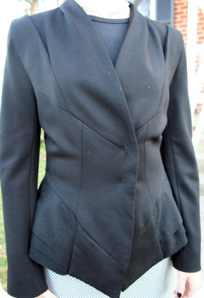 MM Couture black blazer detail