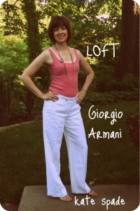 I was lucky enough to find these white linen Giorgio Armani pants on consignment