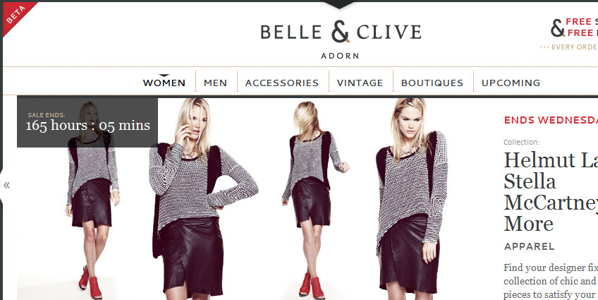 With so many sample sale sites to choose from (like Belle & Clive, seen in this screenshot), how do you know which is best? This post decodes the top 9 sites for you.
