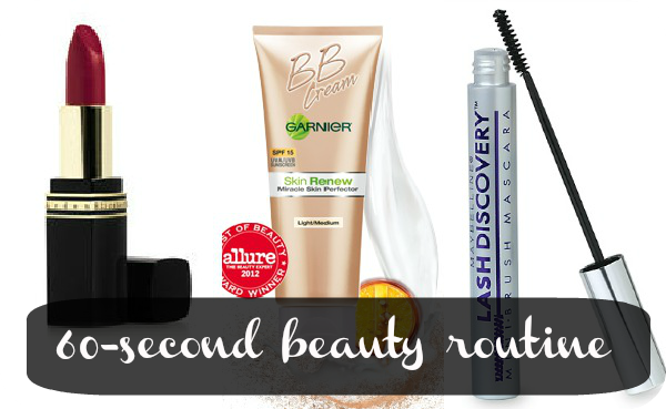 3 steps to the (almost) 60-second beauty routine
