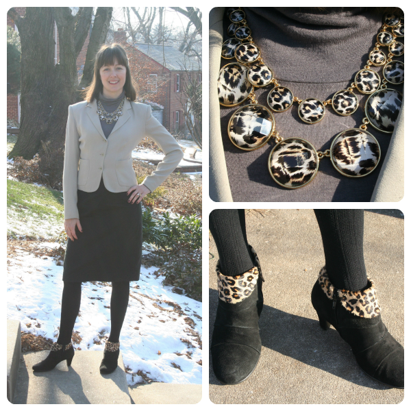 Working mom outfit of the week: A spot of leopard